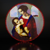 Stained Glass Madonna and Child