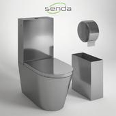 SENDA MONOBLOCO. Антивандальный напольный унитаз.