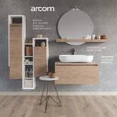 Мебель для умывальника SOUL - COMPOSITION 01 +  Аксессуары для ванной комнаты