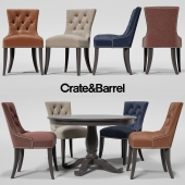 Стул Cecelia, стол Avalon  Crate&Barrel