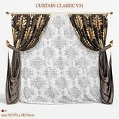 Штора классическая V34 CURTAIN CLASSIC