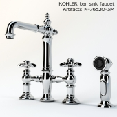 Kohler Artifacts Deck-mount bridge bar and kitchen sink faucets