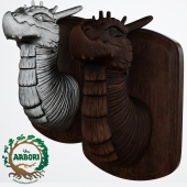 Brambleback Arbori Tree Dragon Wall Bust Sculpture