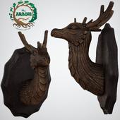 Deciduous Arbori Tree Dragon Wall Bust Sculpture