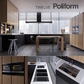 Kitchen Poliform Varenna Twelve 2 (vray GGX, corona PBR)