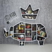 Rhino Bookshelf