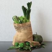 Набор из зеленых овощей