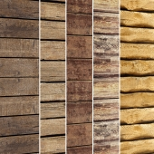 Collection of wood panels 5 pcs.