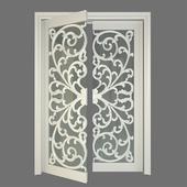 stained glass door / распашные двустворчатые двери