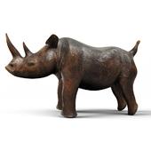 Carved Wood Rhino