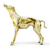 Large Brass Greyhound
