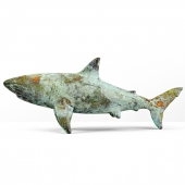 Shark Sculpture in Bronze Finish