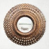 Round Peacock Mirror