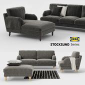 Ikea STOCKSUND sofa, chair, ottoman, chaise, sofa cover