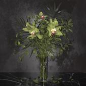Orchid bouquet + Bohemia Labyrinth Vase