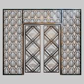 Кованная решетка на входную дверь