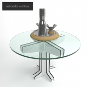 Coffee table with tableware