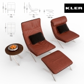 Kler Habanera Armchair and Kler Rivolto table