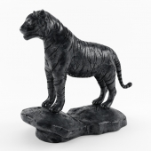 Tiger - black marble