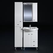 Мебель для ванной СанТа Альтаир 60 (2 ящика с бельевой корзиной)