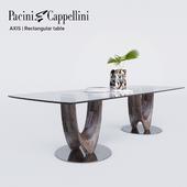 Pacini Cappellini AXIS Rectangular table