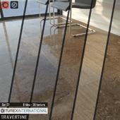 TUREX INTERNATIONAL Travertine Tiles Set 07