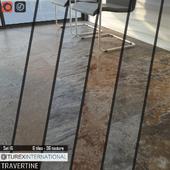 TUREX INTERNATIONAL Travertine Tiles Set 16