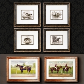 The picture in the frame. 121. Collection of Horse