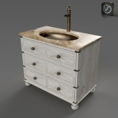 "AMBELLA HOME CAMPAIGN 38"" SINK CHEST"