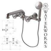 R.W. Atlas Exposed Wall Mounted Tub Filler