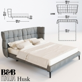 Кровать b&b italia  husk