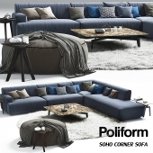 Poliform Soho corner sofa_Elise_Mad_Tribeca_Coffe Table