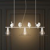HANGING LAMP PROVENCE BIRD PENDANT LINE CONE 3