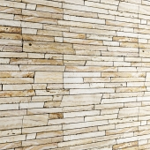 Wall of shale stone