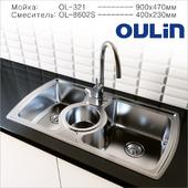 Мойка + смеситель Oulin OL-321