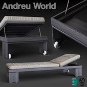Sun Bed Andreu World Alu
