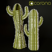 Cactus Vase and Decor