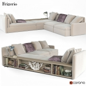 Dominio sofa by Frigerio Salotti