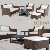 Couch & Chair collection Barcelona Dedon