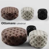 Пуфики цилиндрические набор - Ottomans cylindrical set