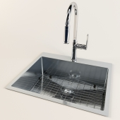 mixer KC-9850CH and drop-in kitchen sink 65-HT2522 Bath Depot
