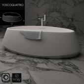 TOSCOQUATTRO ванна отдельностоящаа