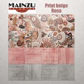 Mainzu Verona Print Beige Rosa