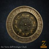 Roman numerals Clock (Torre dell'Orologio)