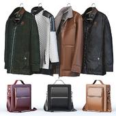 Ветровка, спортивная куртка, зимняя куртка + мужская сумка