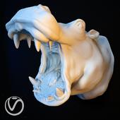 Гипсовая голова бегемота