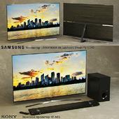 Телевизор SAMSUNG UE55KS8000 55 дюймов Smart TV SUHD. Звуковой проектор SONY HT-NT5.