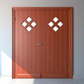 """Двери с расстекловкой """"Ромб""""."""