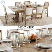 Hooker Geo Trestle and Stol Upholstered