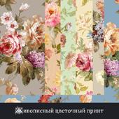 Scenic floral print